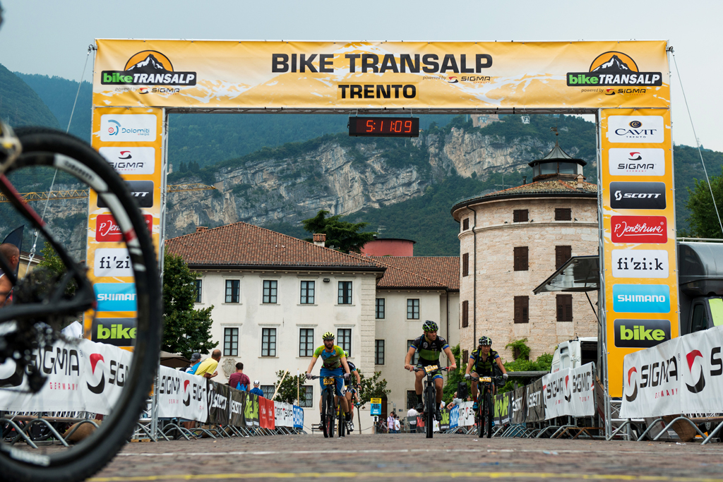 BIKE Transalp powered by Sigma 2016 - Stage 6(Mezzana-Trento) - 88,24 km © Miha Matavz