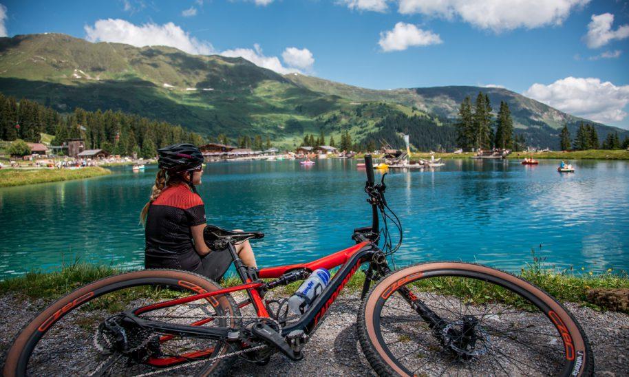 Radtour zum Högsee in Serfaus